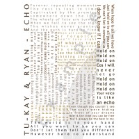 Tu-kay & Ryan - Echo - Lyric Poster